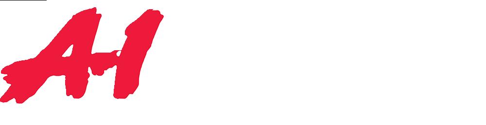 A1 logo white