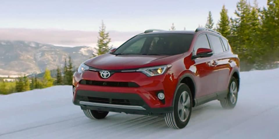 Toyota in snow