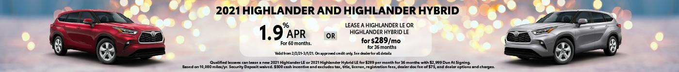 2021 Highlander Banner