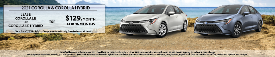 Corolla Offers