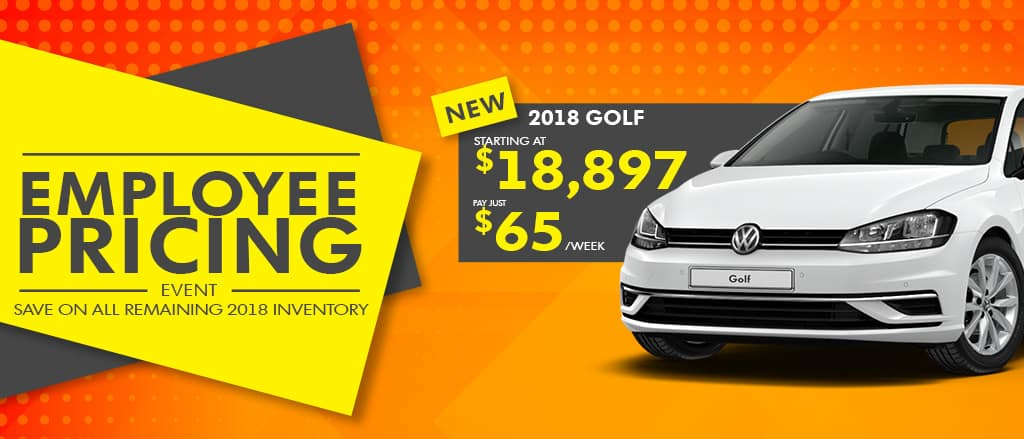 Employee Pricing is on now at Abbotsford Volkswagen!