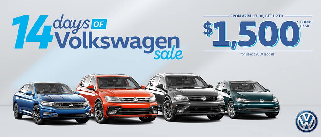The 14 Days of Volkswagen Event is on now at Abbotsford Volkswagen!