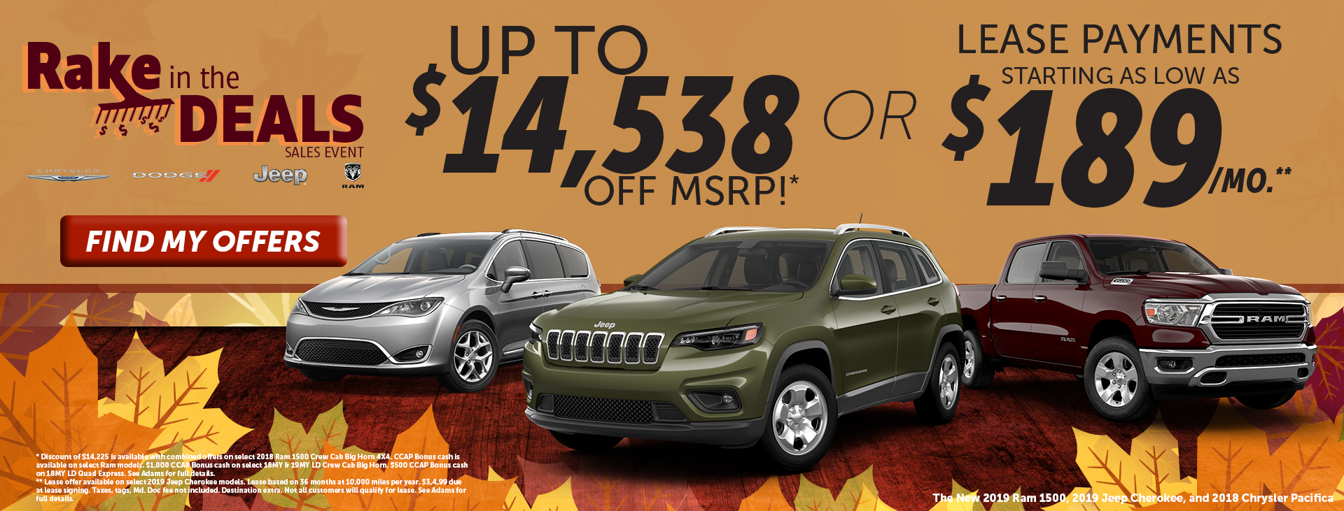 Rake in the deals!