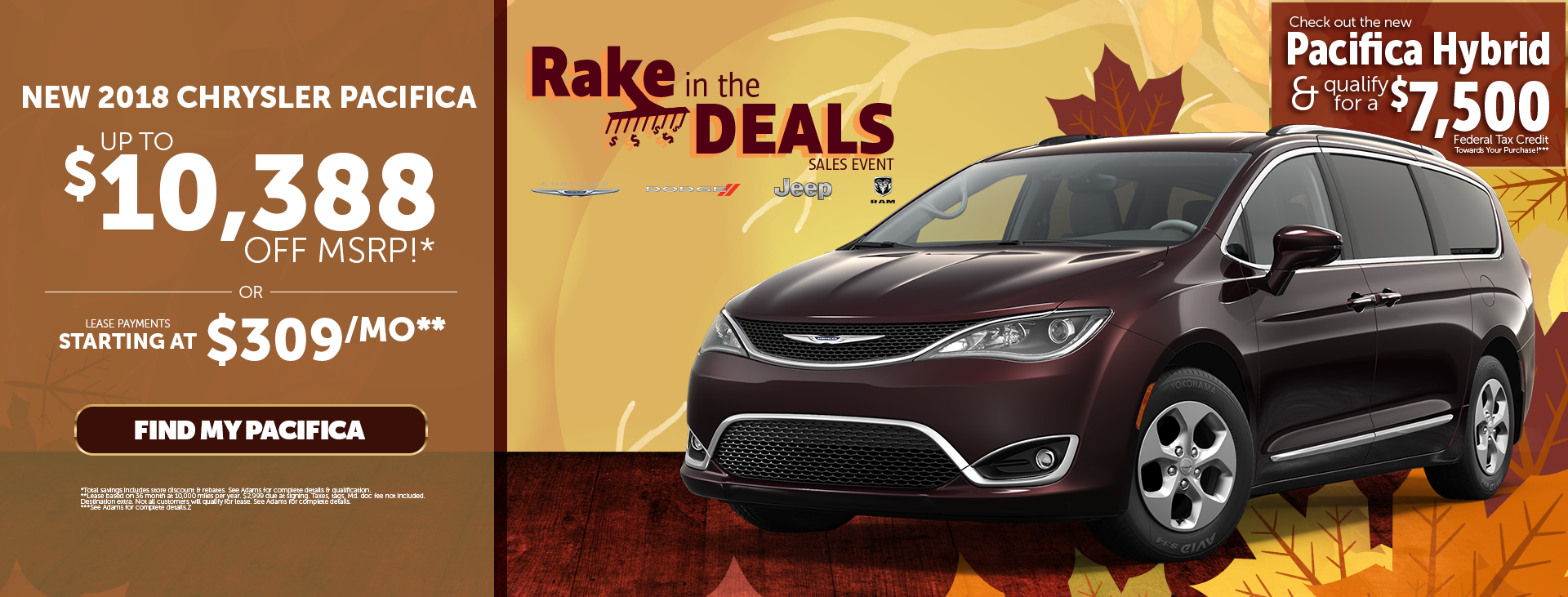 Rake in the Deals at Adams of Annapolis