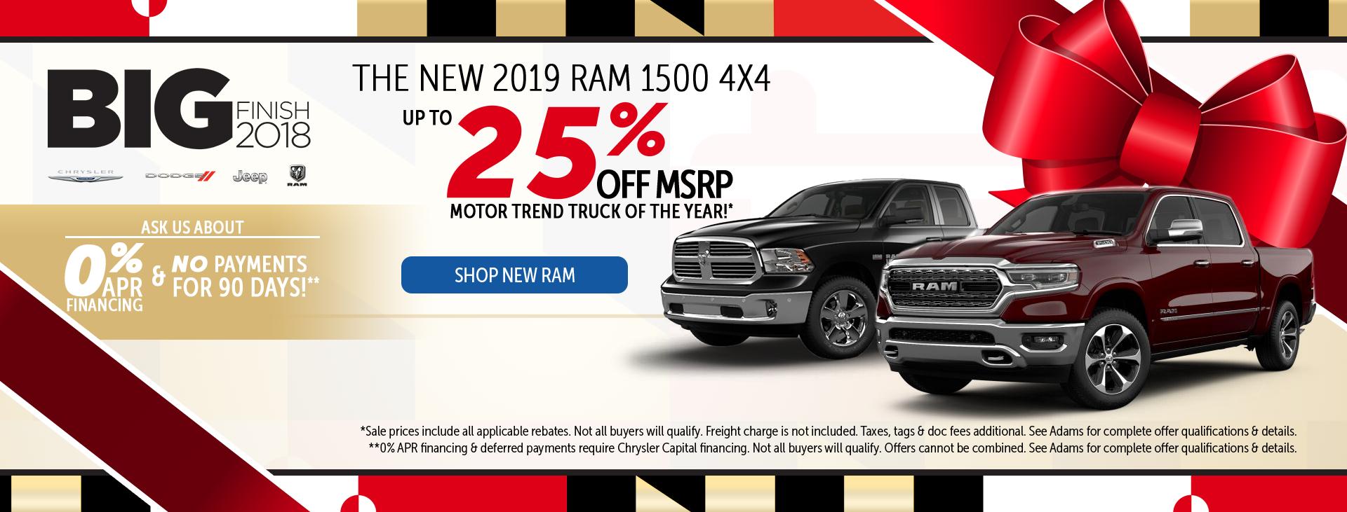 Adams of Annapolis 25% off Ram Trucks
