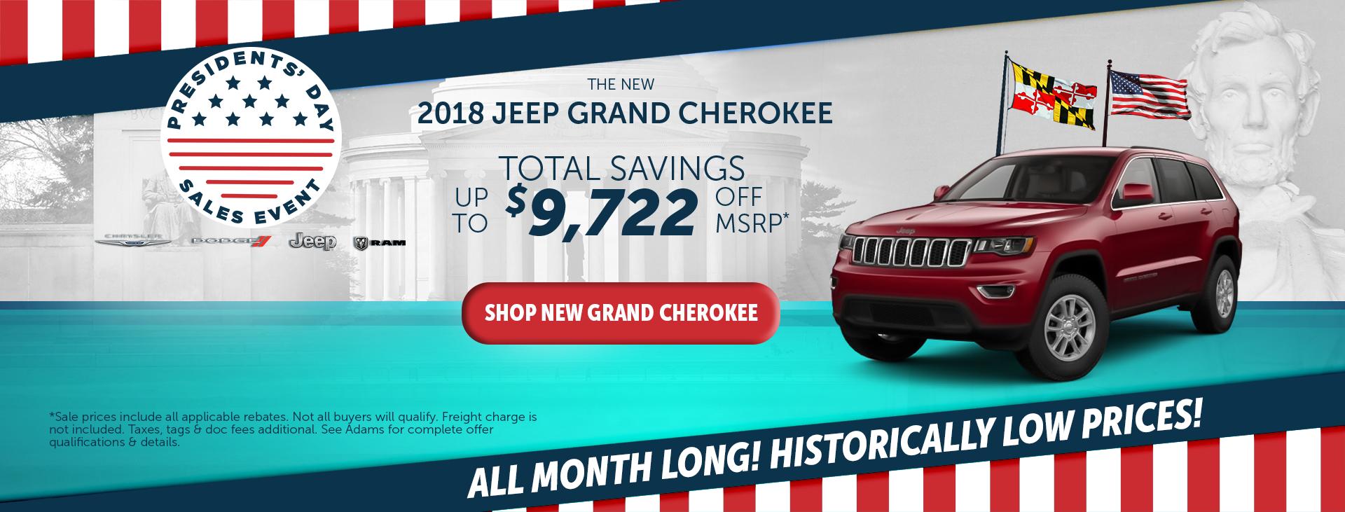 adams chrysler dodge jeep ram 2018 jeep grand cherokee