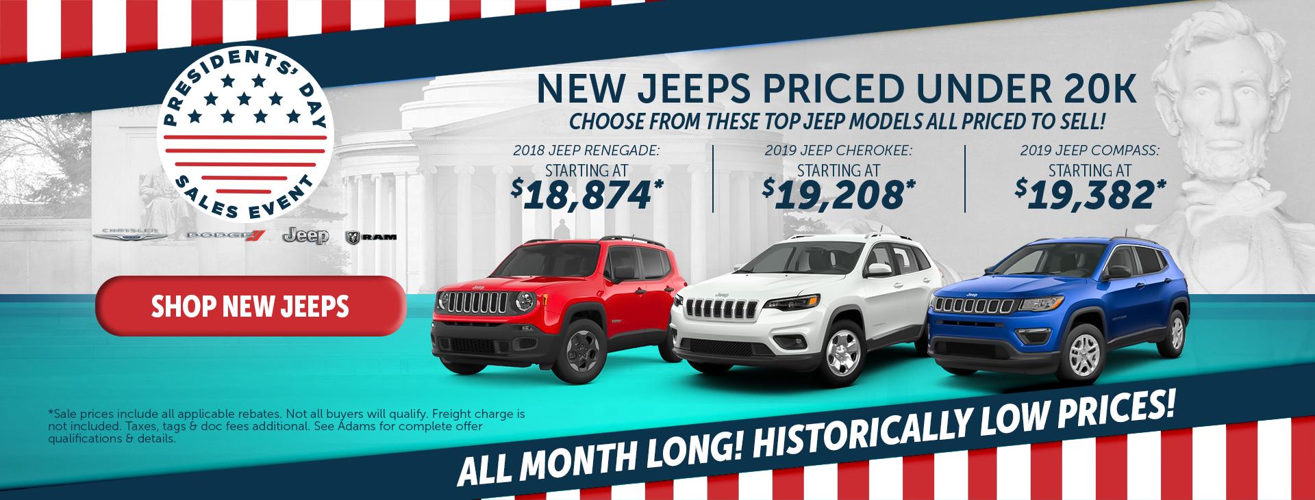 adams chrysler dodge jeep ram jeeps under $20k
