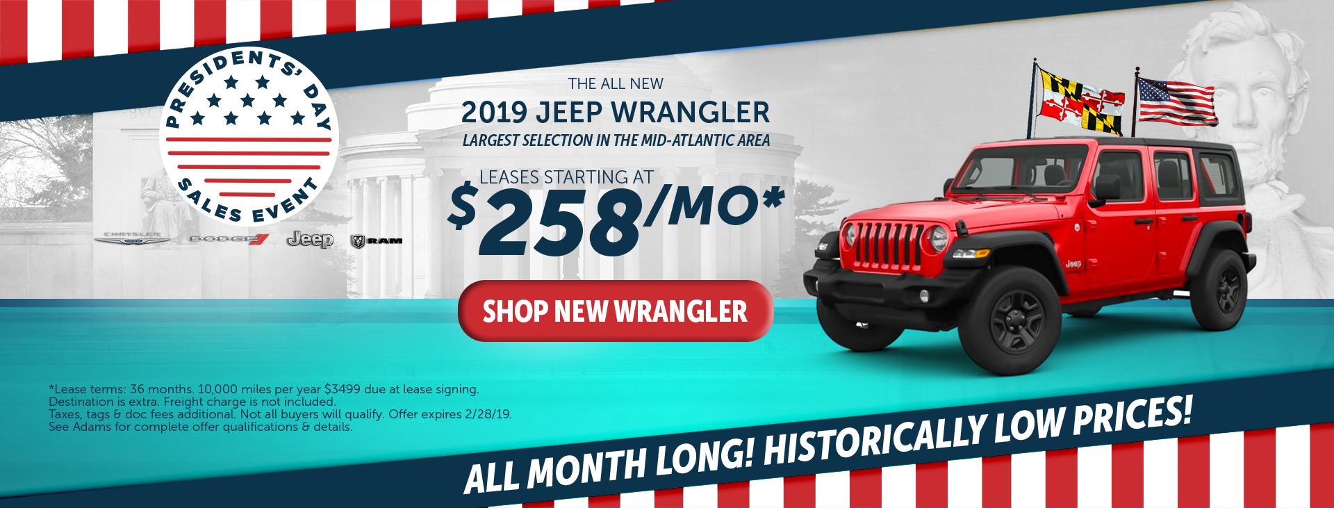 adams chrysler dodge jeep ram 2019 jeep wrangler
