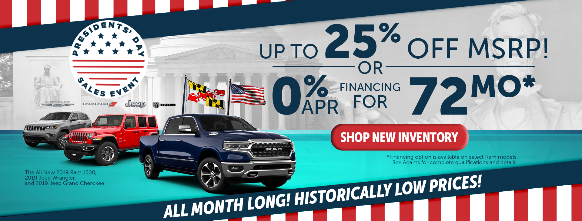 adams chrysler dodge jeep ram special offer