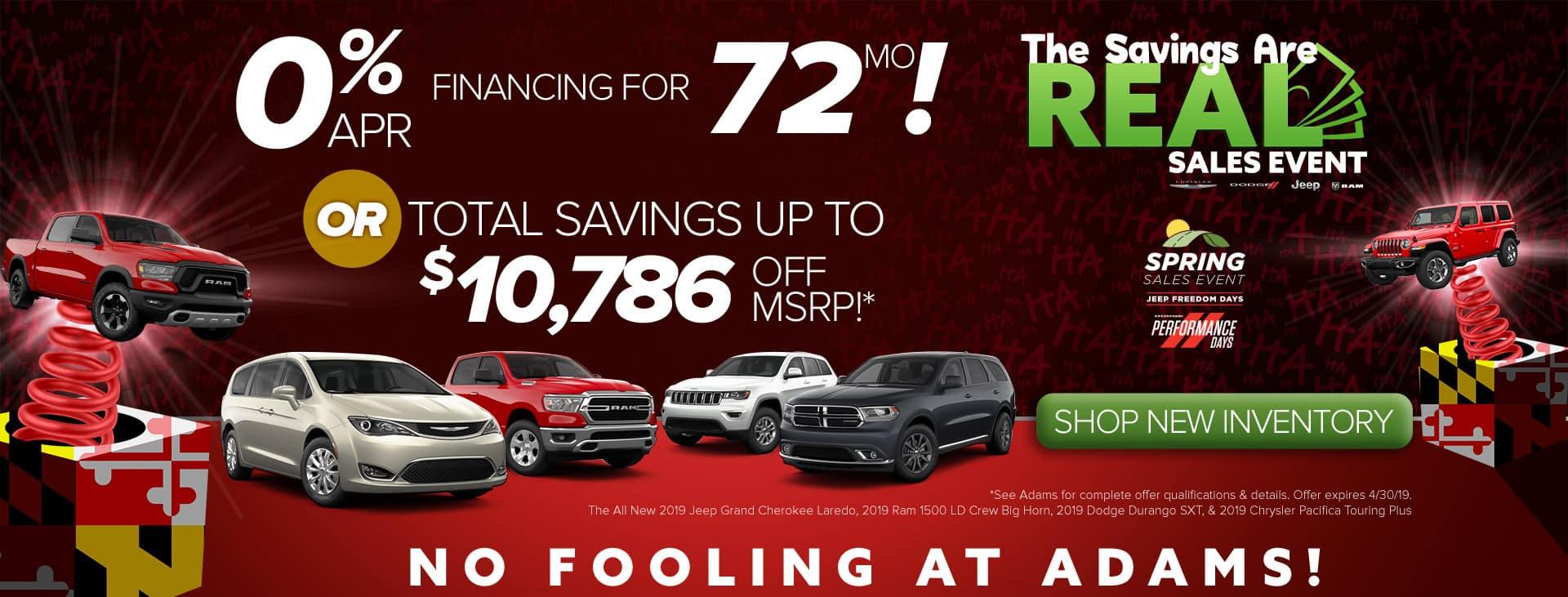 No fooling, just savings!