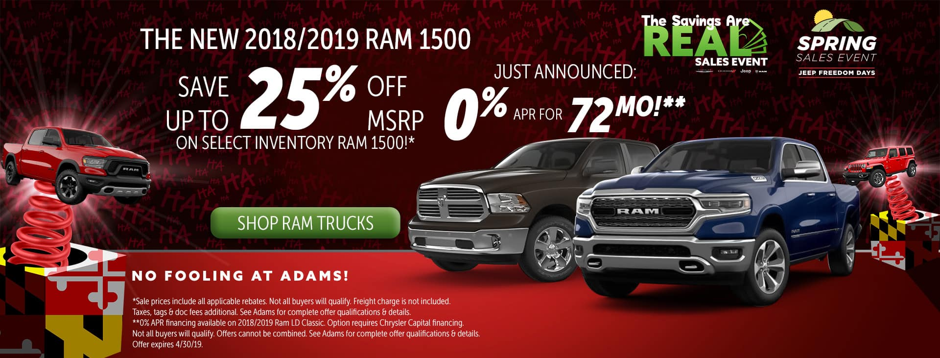 up to 25% off ram 1500!