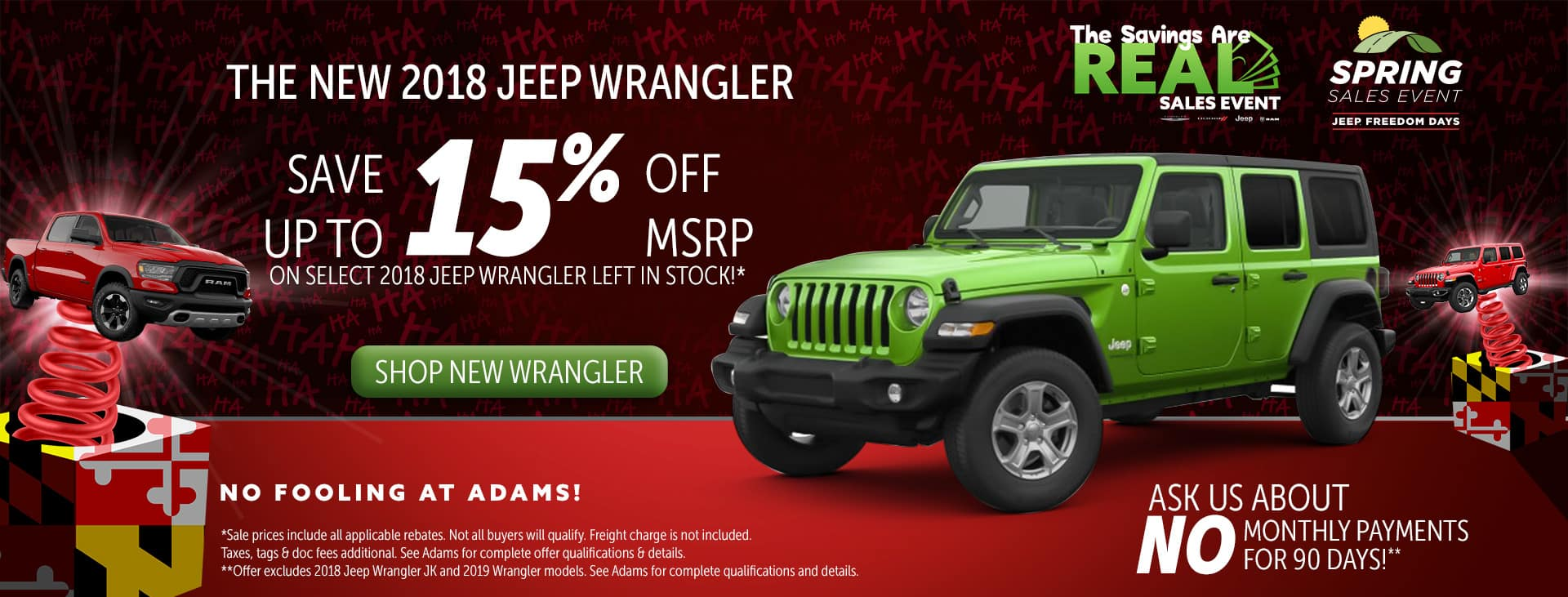 up to 15% off wrangler