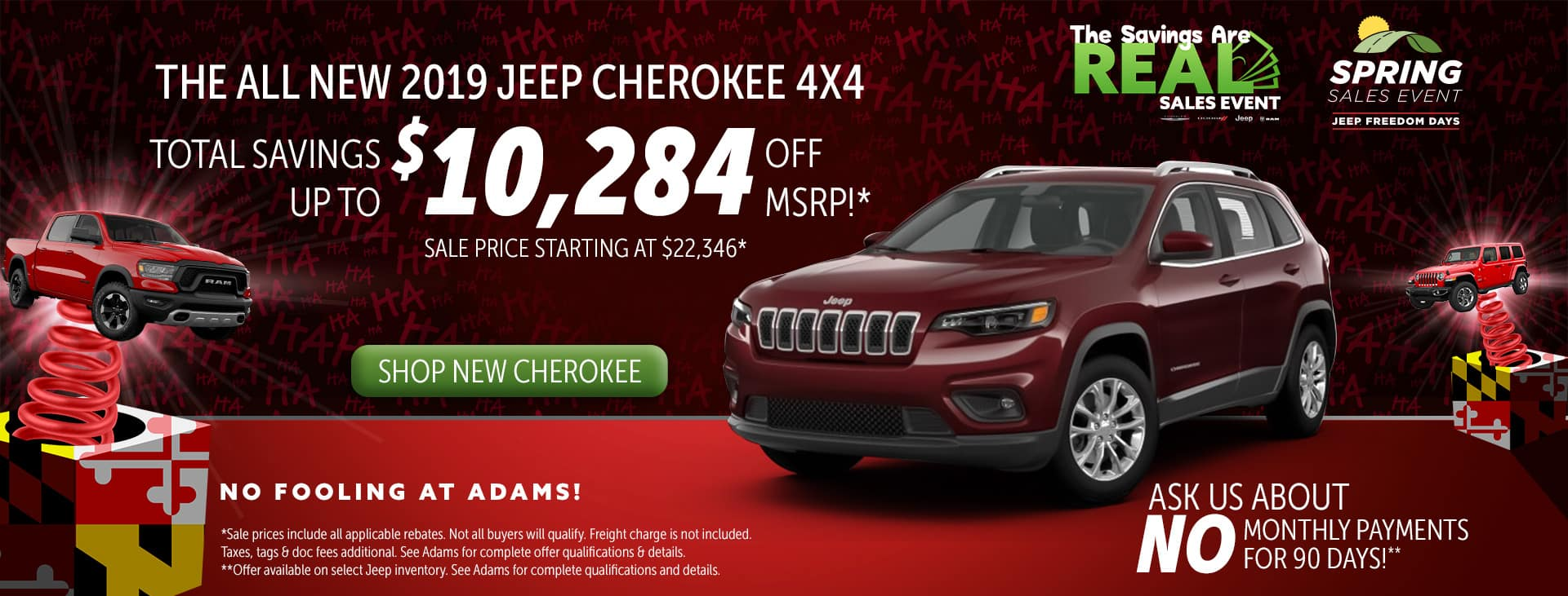 over 10,000 off jeep cherokee!