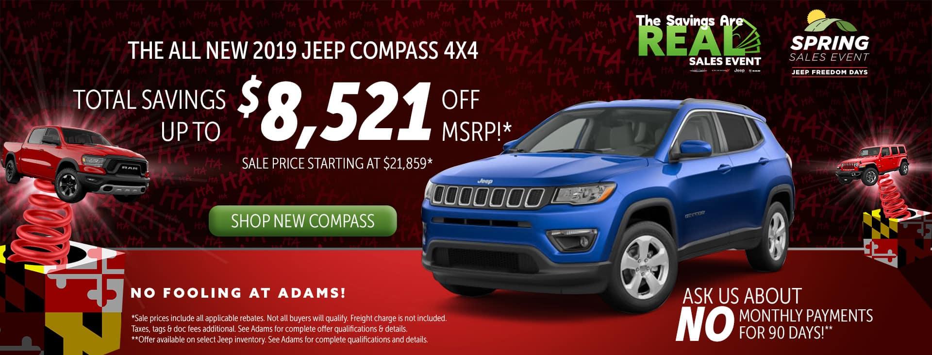 huge savings on jeep compass!