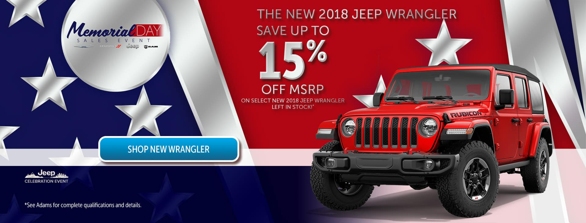 15% off Jeep!