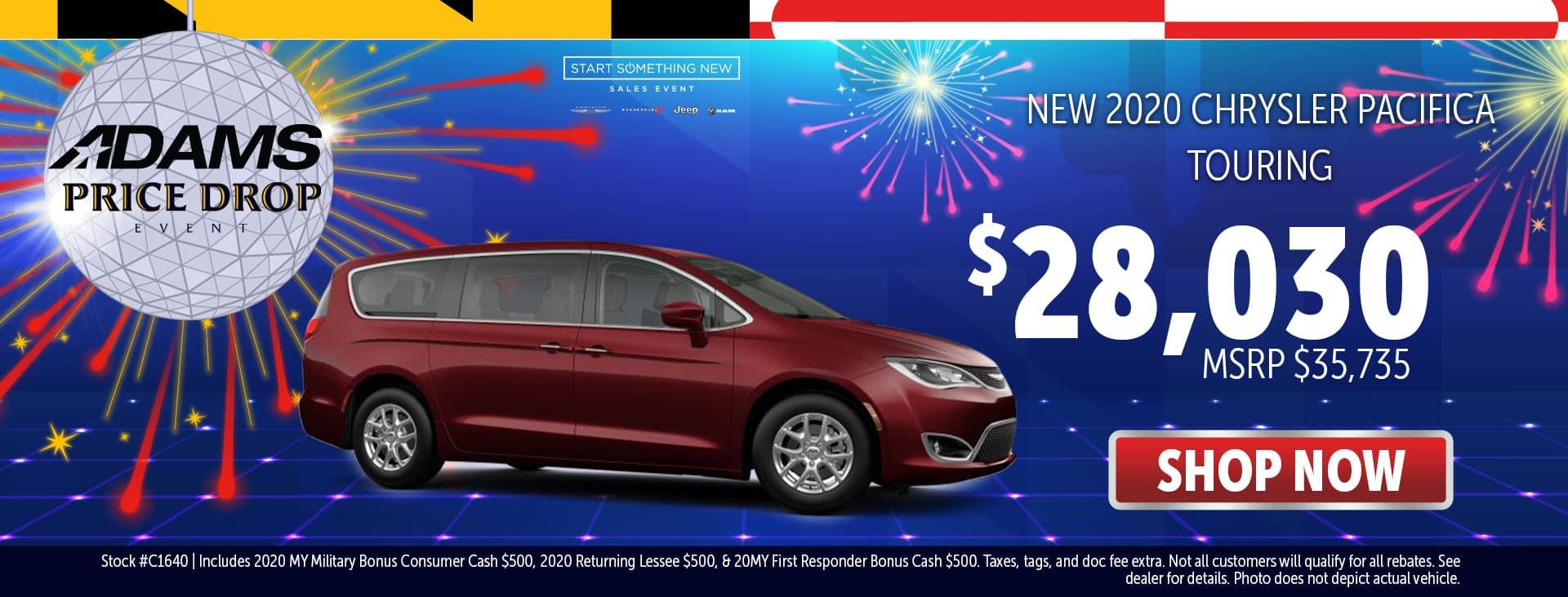 2020 Chrysler Pacifica for $28,030