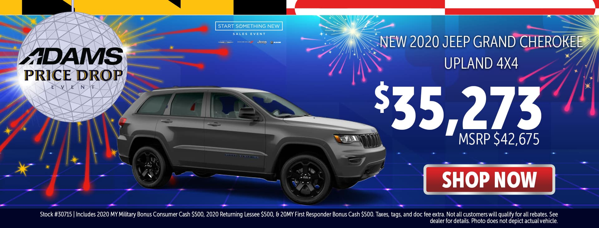 2020 Jeep Grand Cherokee for $35,273!