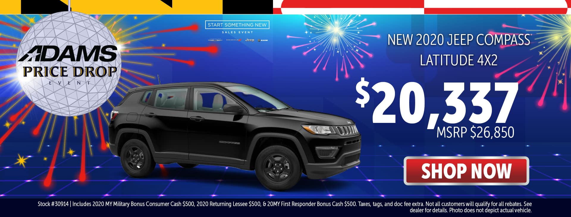 2020 Jeep Compass for $23,337!