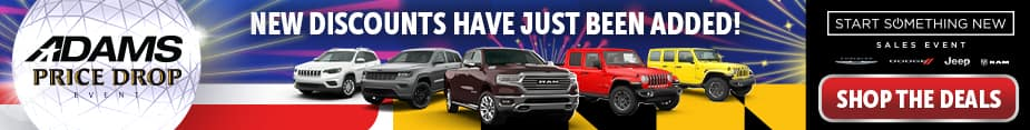 New Incentives on Chrysler, Dodge, Jeep Ram