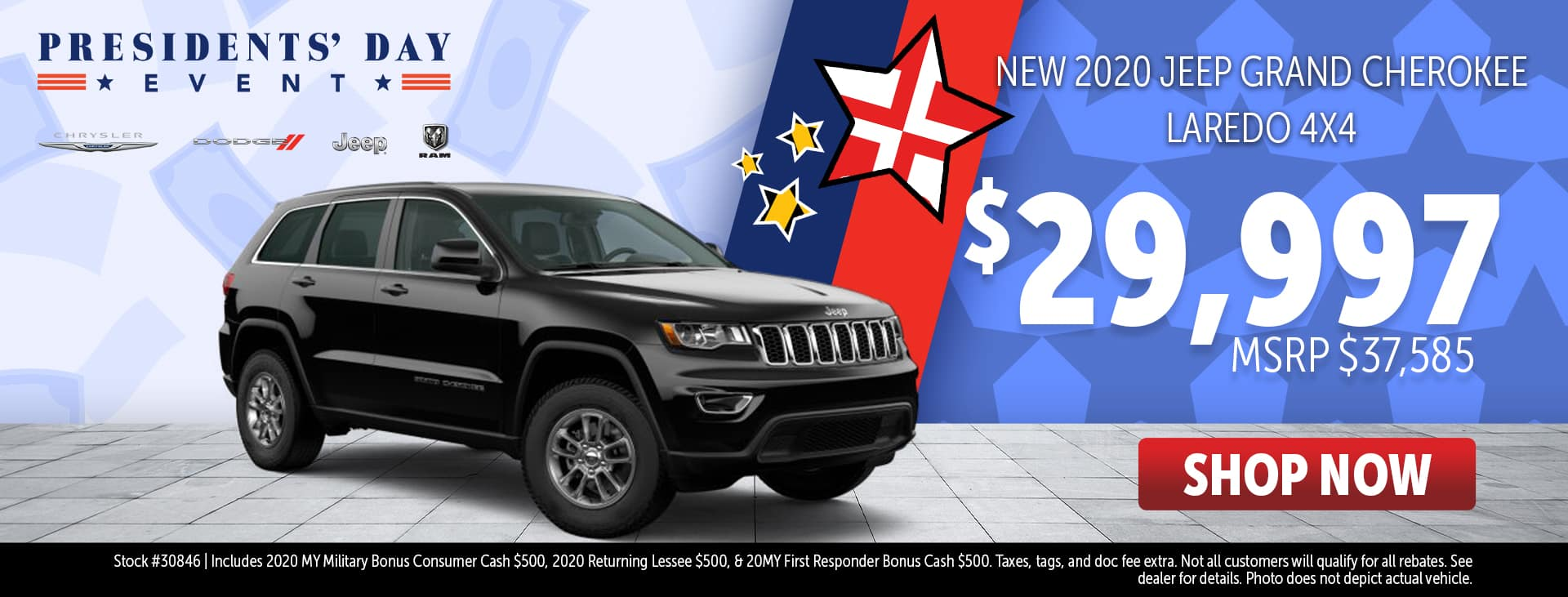Presidents' Day Event Price for 2020 Jeep Grand Cherokee
