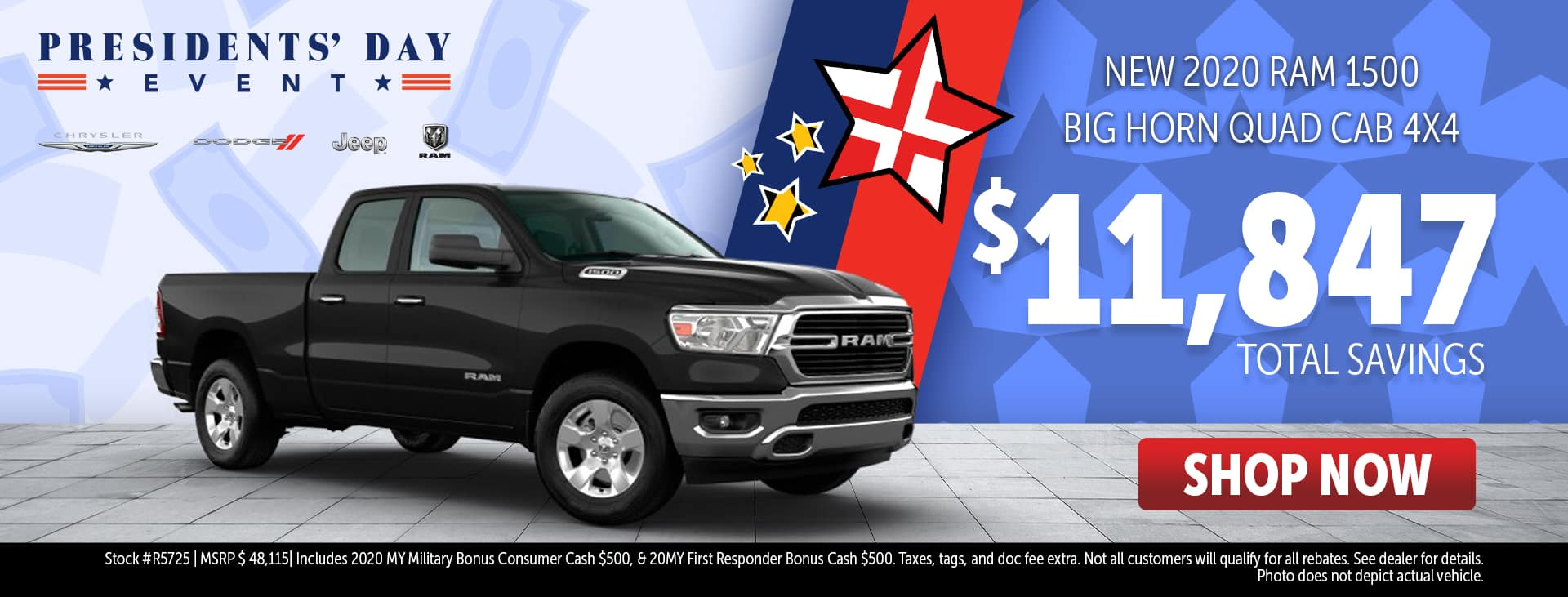 Presidents' Day Event Price for 2020 Ram 1500