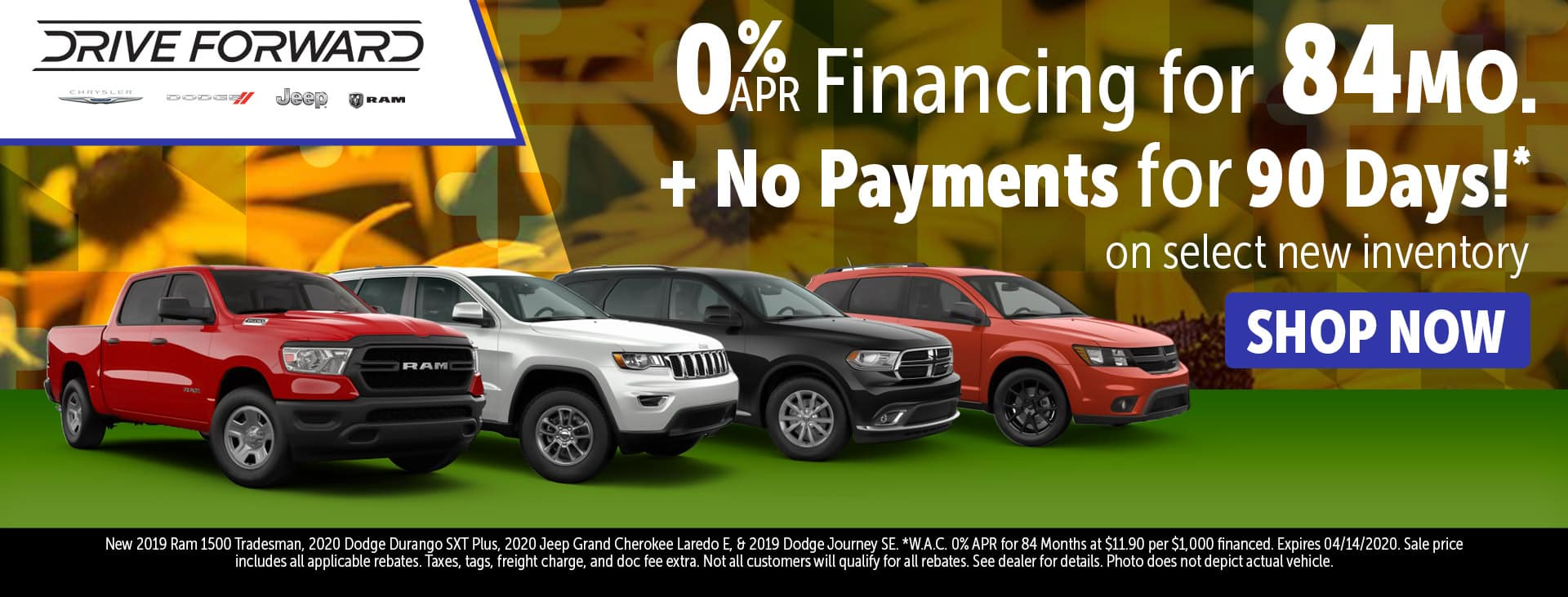 0% for 84 months + make no payments for 90 days