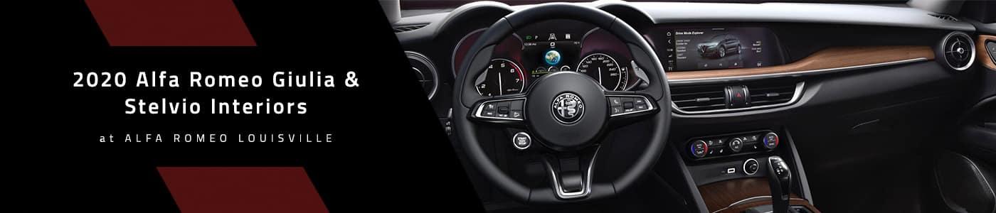 2020 Alfa Romeo Giulia & Stelvio Interior Updates at Alfa Romeo Louisville