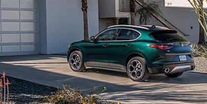 Alfa Romeo in driveway
