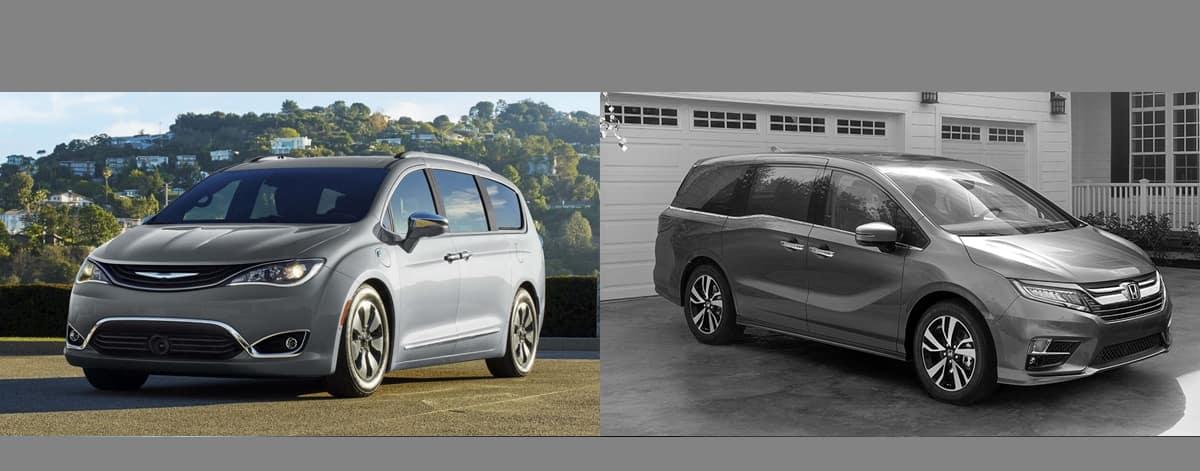 2018 Chrysler Pacifica vs 2018 Honda Odyssey serving Gurnee