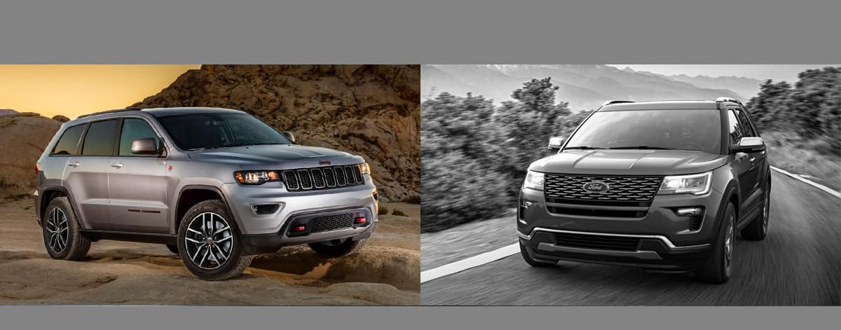 2018 Jeep Grand Cherokee vs 2018 Ford Explorer Serving Gurnee