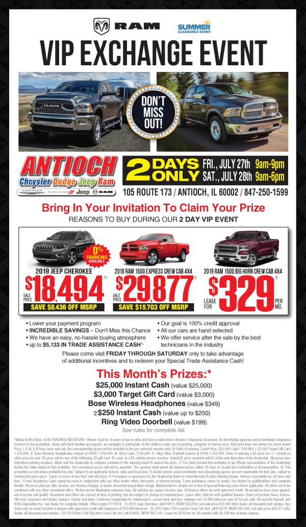 vip exchange event in antioch il