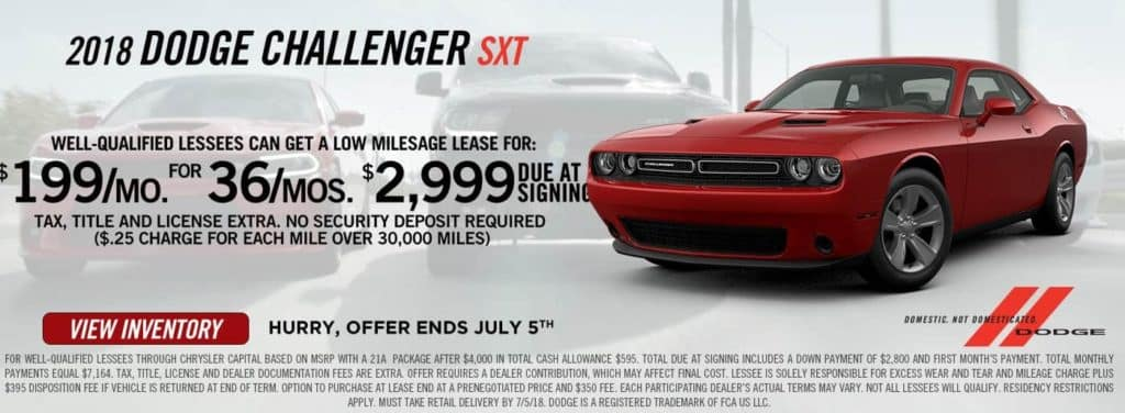 Antioch Dodge Offers A Dodge 4th Of July Sales Event Near Gurnee IL