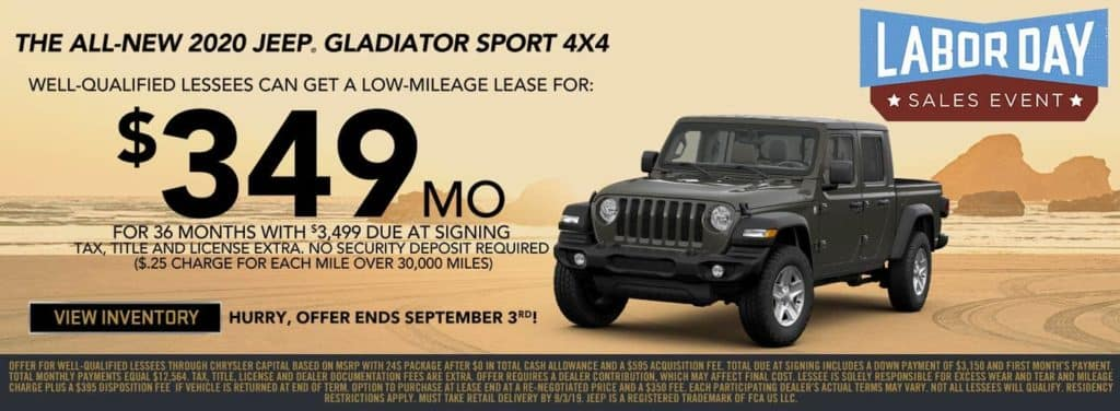 2020 Jeep Gladiator special in Antioch Labor Day