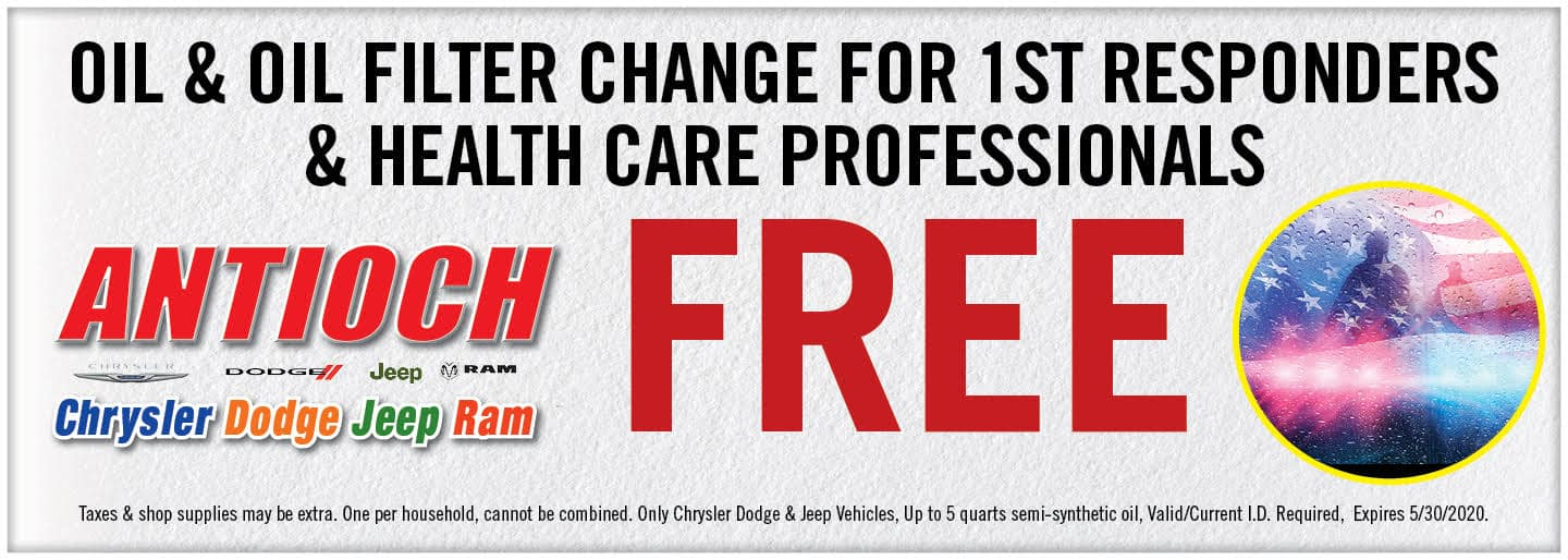 First Responder & Health Care Professionals: Free Oil Change