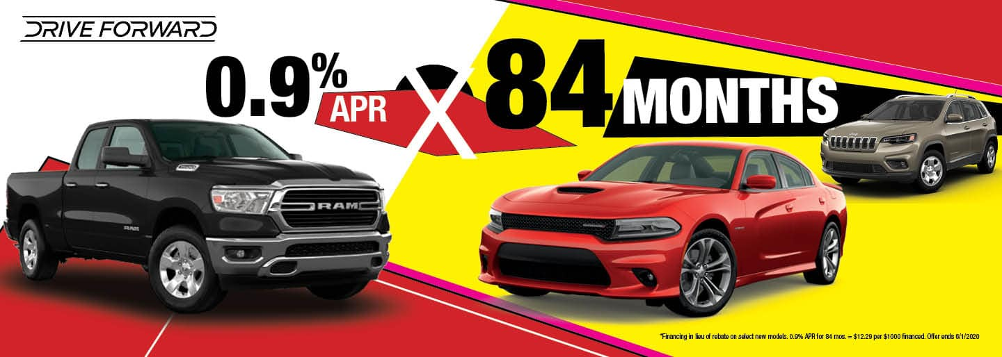 Get 0.9% APR x 84 mos. on select new models