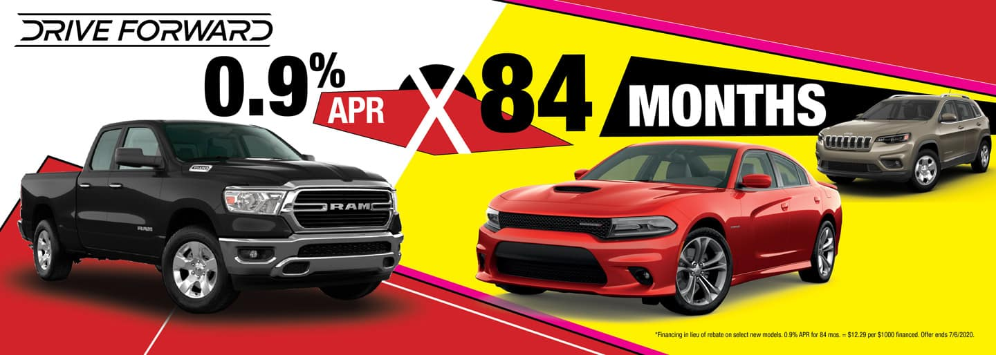 Get 0.9% APR for 84 Months on select new models.