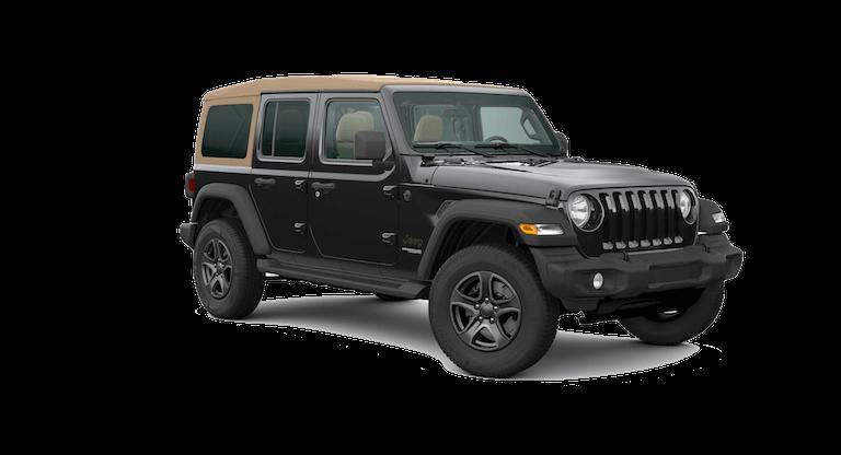 A black and tan 2020 Jeep Wrangler Black and Tan