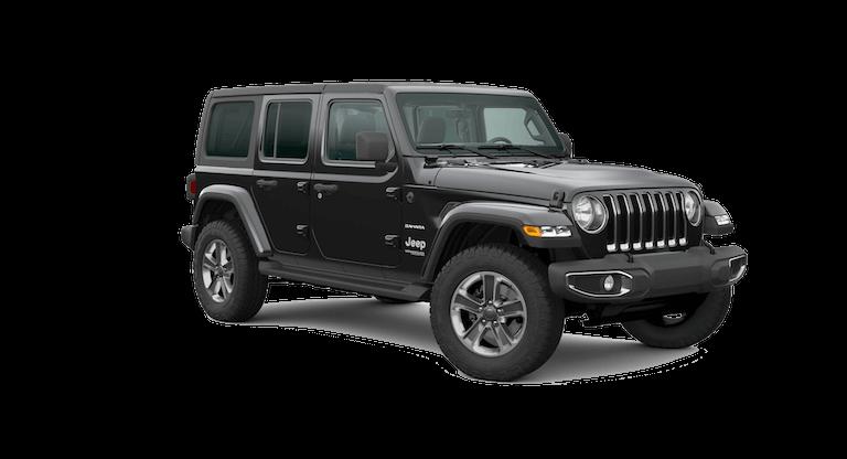 A black 2020 Jeep Wrangler North Edition