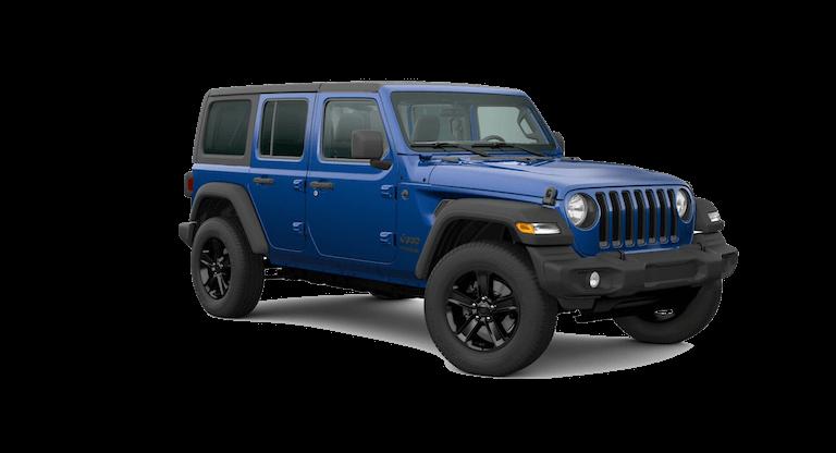 A blue 2020 Jeep Wrangler Sport Altitude