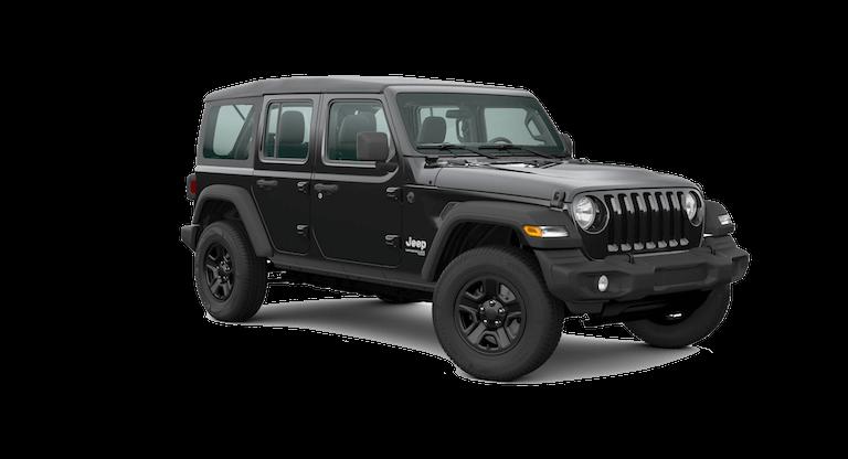 A black 2020 Jeep Wrangler Sport