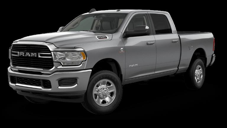 A silver 2020 Ram 2500 Big Horn