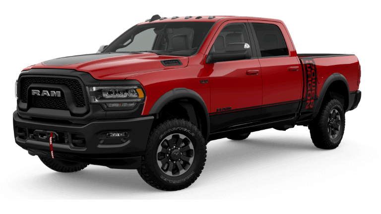A red 2020 Ram 2500 Power Wagon