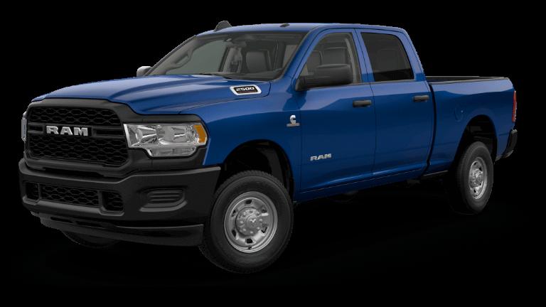 A blue 2020 Ram 2500 Tradesman