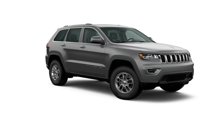 A red 2020 Jeep Grand Cherokee Laredo E