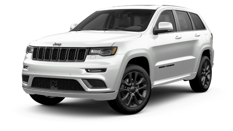 A white 2020 Jeep Grand Cherokee High Altitude