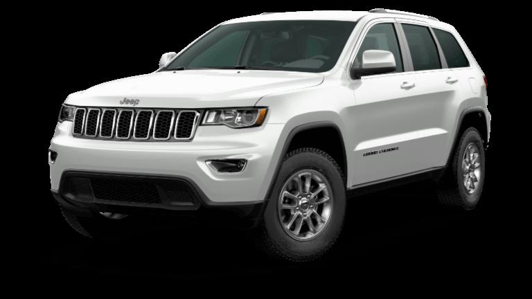 A white 2020 Jeep Grand Cherokee Laredo E