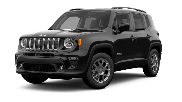 A black 2020 Jeep Renegade Latitude