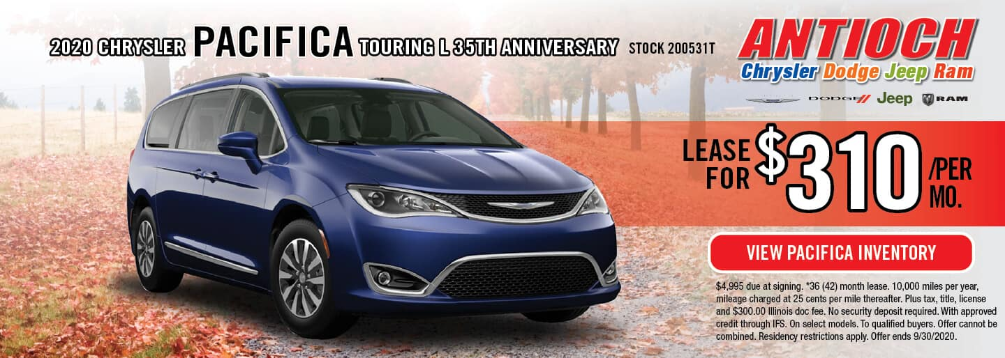 2020 Chrysler Pacifica Touring   Lease for $310/Mo.   Antioch, IL
