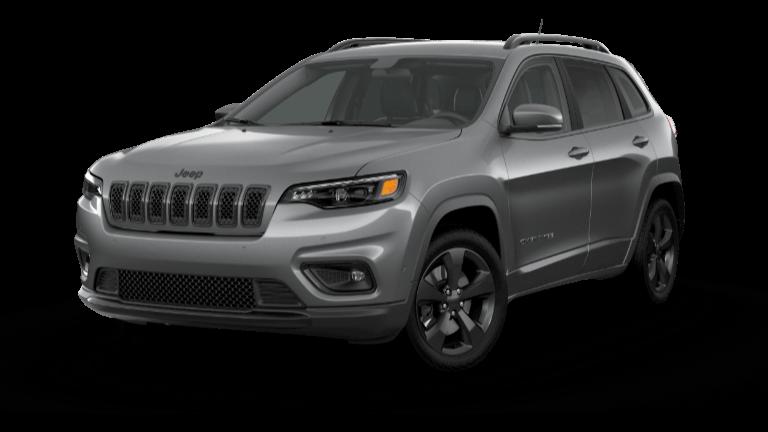 A silver 2020 Jeep Cherokee Altitude