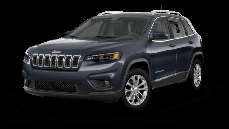 A blue 2020 Jeep Cherokee Latitude